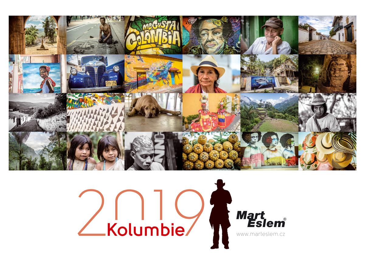 Kalendář Kolumbie 2019